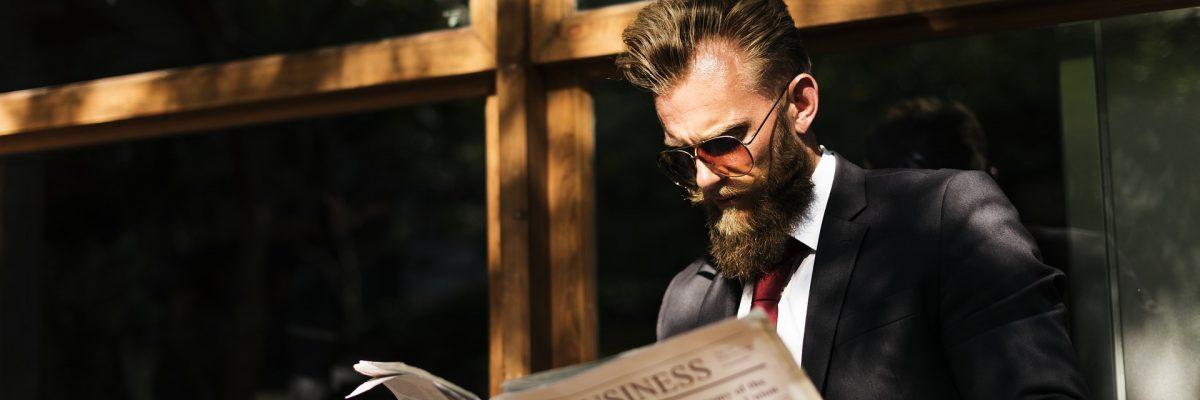 Man leest de krant